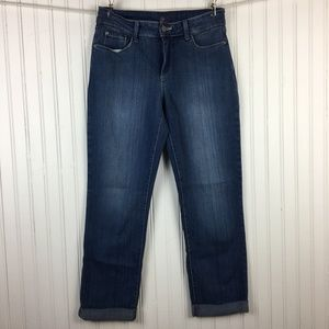 NYDJ Tanya Boyfriend Roll Ankle Jeans Medium Wash